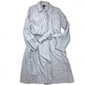 Eileen Fisher Metallic Calf Length Trench Jacket S